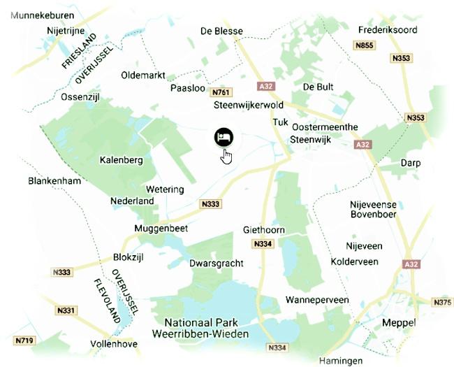 Onze vakantiewoning is gelegen in Scheerwolde